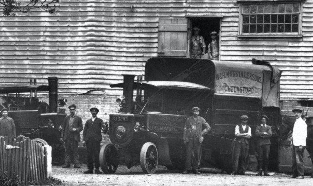 Historic photo outside the mill